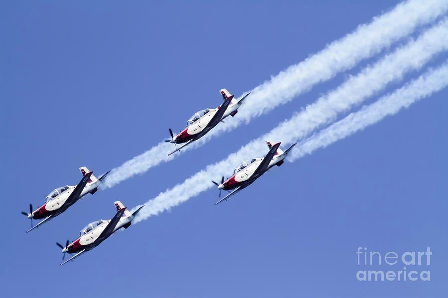 Aerobatics Photograph - Iaf Acrobatic Team by Vladi Alon