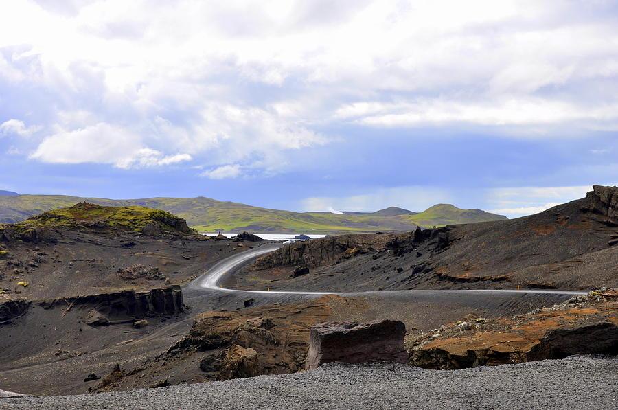 Lava Fields Photograph - Iceland Landscape by Ambika Jhunjhunwala