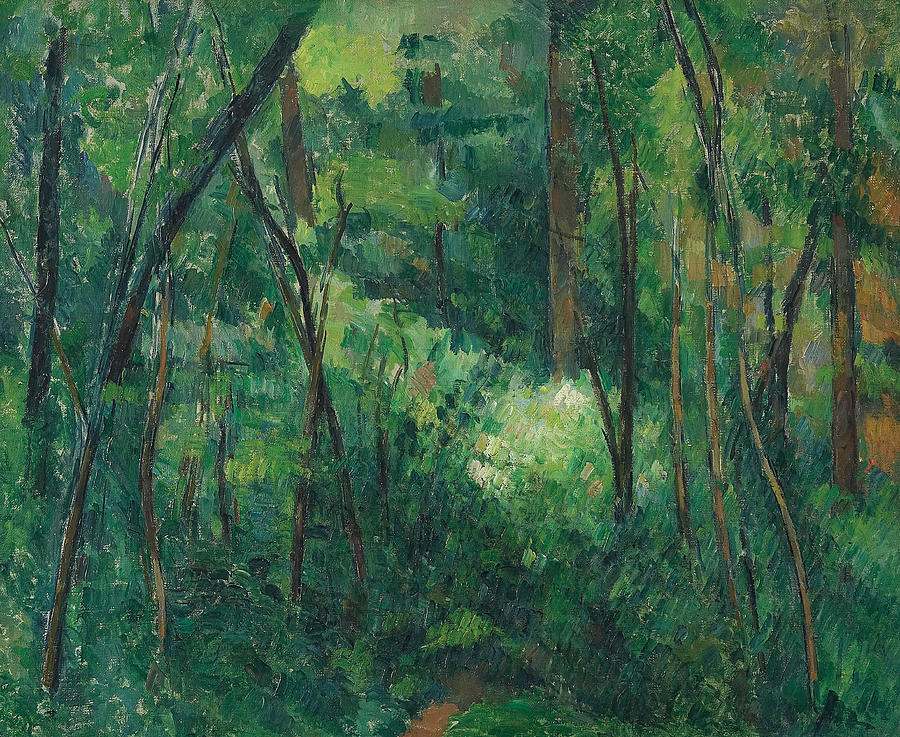 Cezanne Painting - Interior Of A Forest  by Paul Cezanne