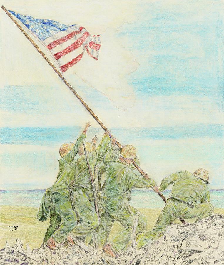 Iwo Jima Painting - Iwo Jima by Dennis Larson