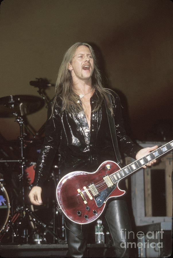 Alice In Chains Photograph - Guitarist Jerry Cantrell by Concert Photos