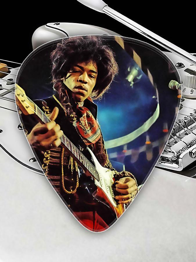 Jimi Hendrix Mixed Media - Jimi Hendrix Guitar Pick Collection by Marvin Blaine
