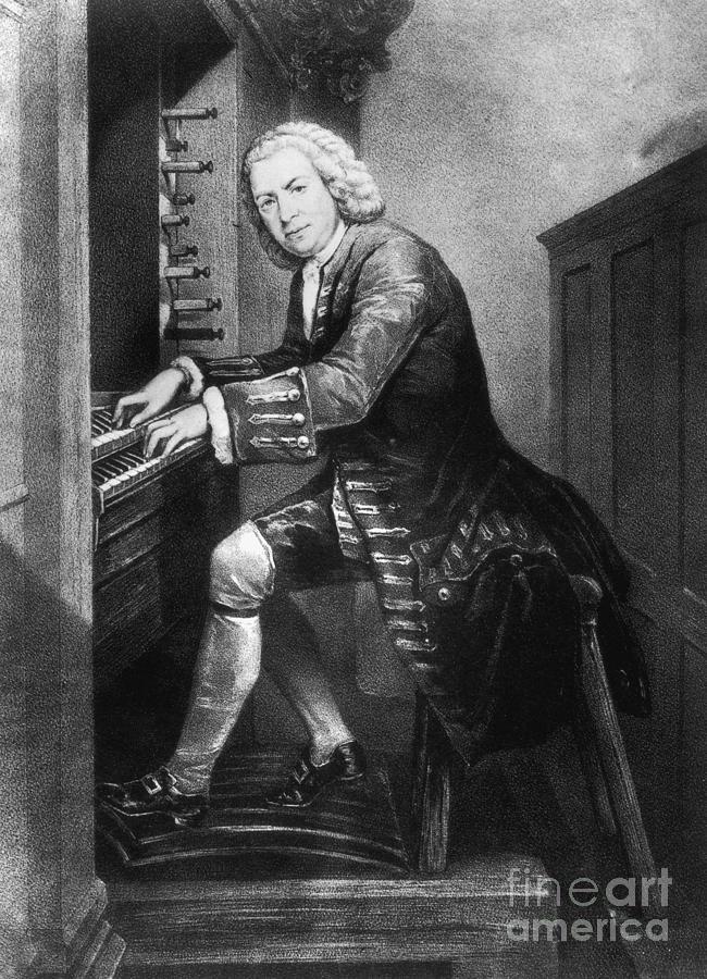 Artwork Photograph - Johann Sebastian Bach, German Baroque by Photo Researchers
