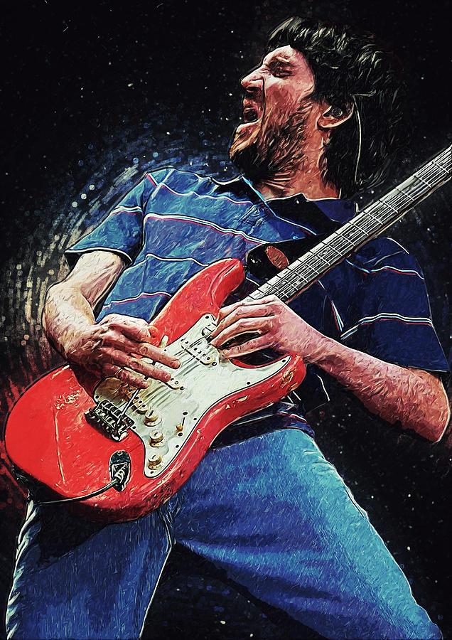 John Frusciante Digital Art - John Frusciante 3 by Zapista OU