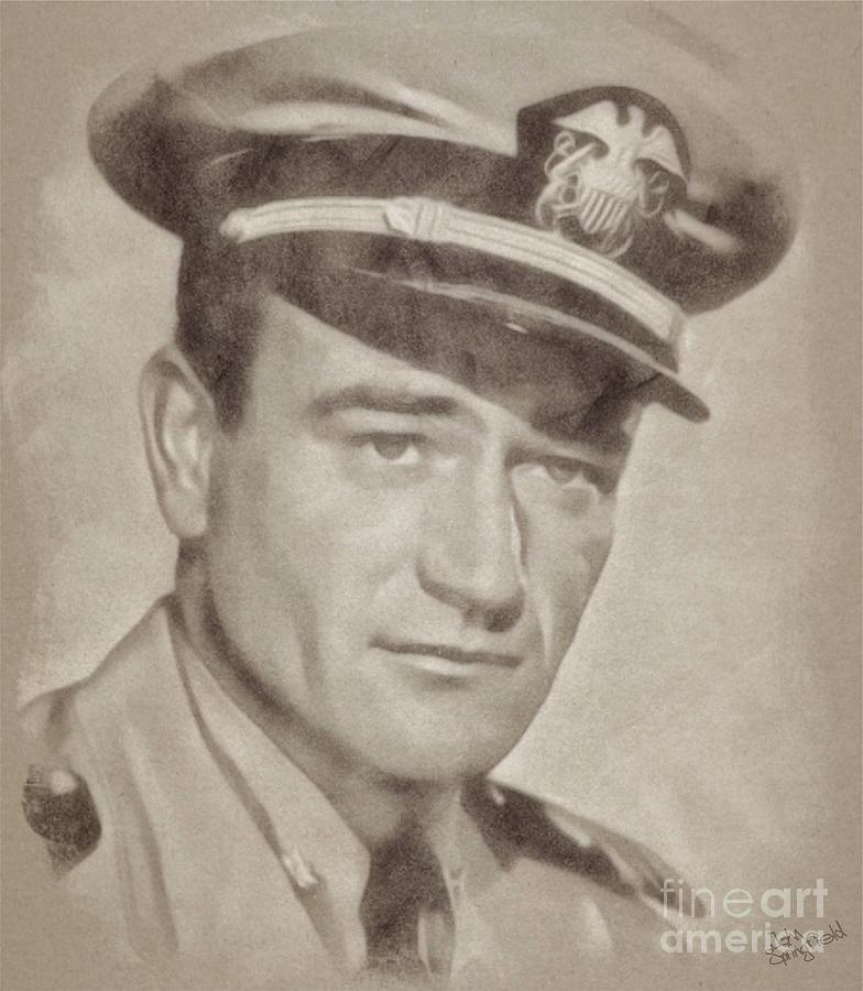 John Wayne Hollywood Actor Drawing