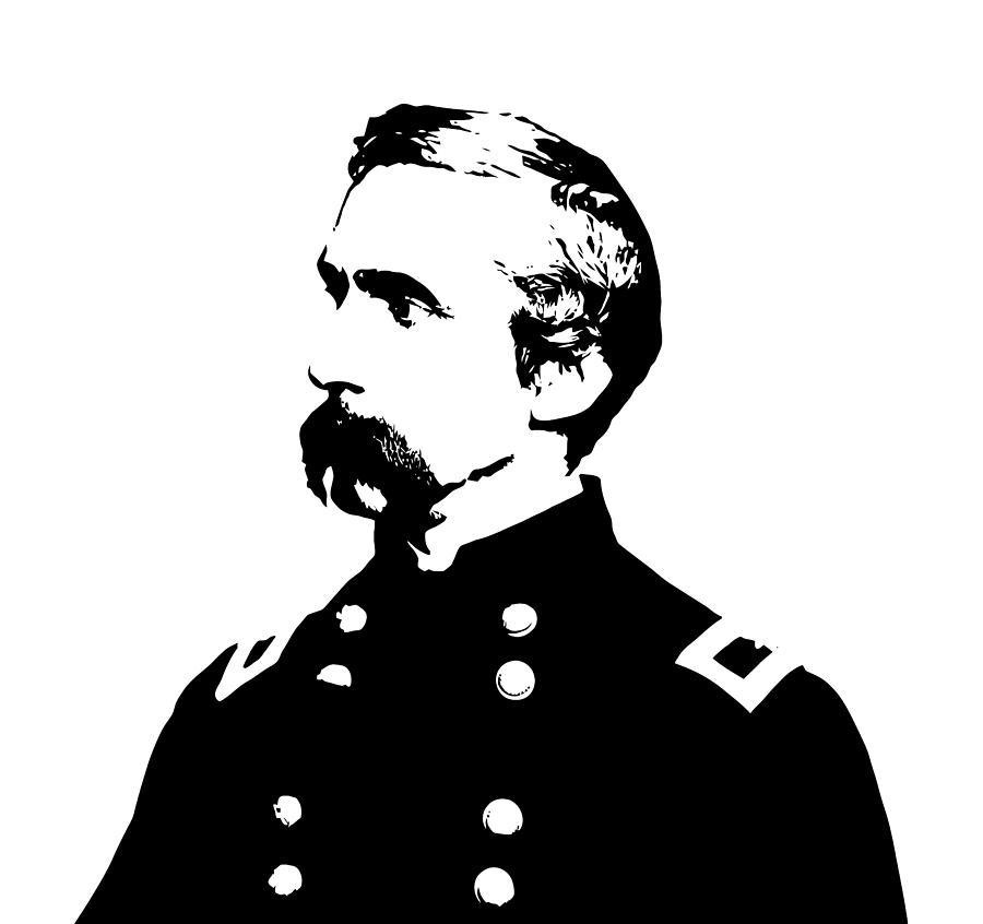 General Chamberlain Digital Art - Joshua Lawrence Chamberlain Graphic by War Is Hell Store