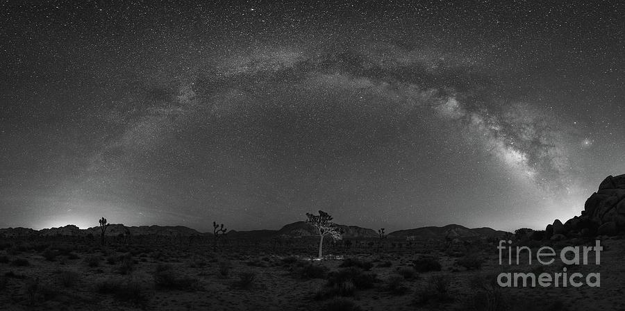 Hidden Valley Photograph - Joshua Tree Milky Way Panorama  by Michael Ver Sprill