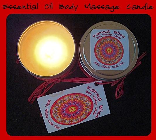 Candle Mixed Media - Karma Bliss Body Massage Candle by Cydney Morel-Corton