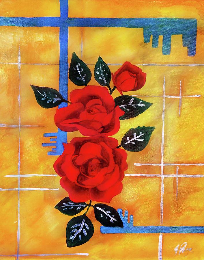 Jennifer Page Painting - 3 Keys by Jennifer Page