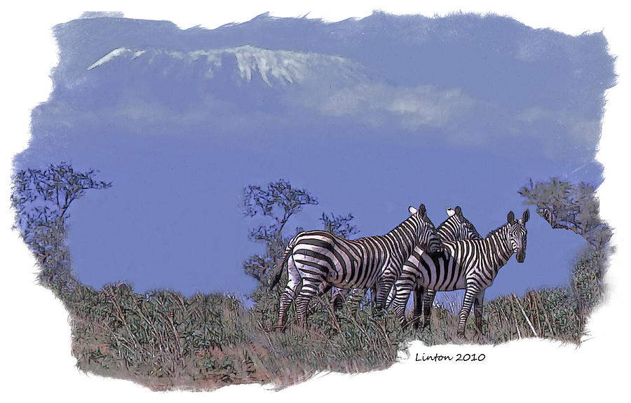 Mt. Kilimanjaro Digital Art - Kilimanjaro by Larry Linton