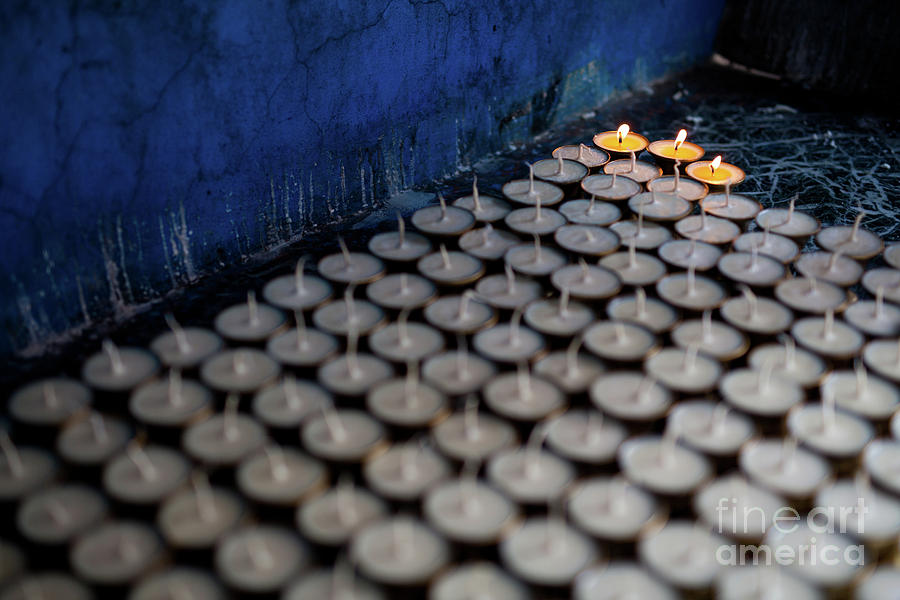 Religious Photograph - 3 Lamps Of Hope by Awais Yaqub