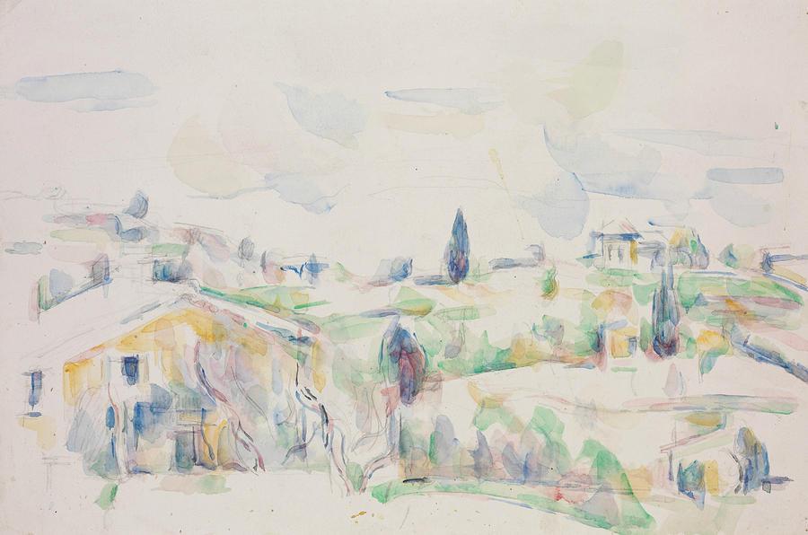 Cezanne Painting - Landscape In Provence  by Paul Cezanne