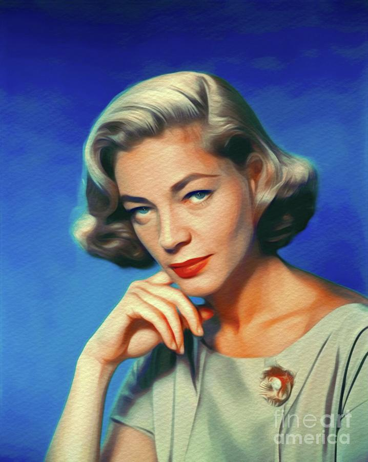 Lauren Bacall, Vintage Movie Star Painting