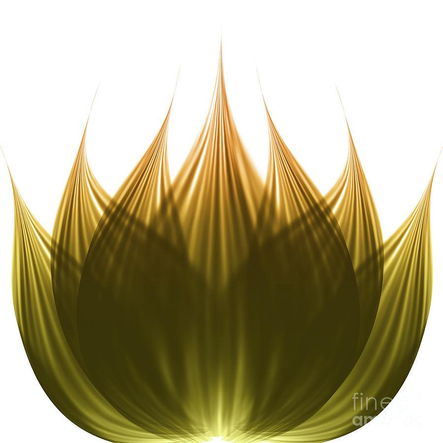 Abstract Digital Art - Lotus Flower by Atiketta Sangasaeng