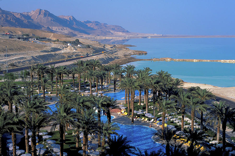 Luxury Resort Photograph - Luxury Resort On The Dead Sea by Carl Purcell
