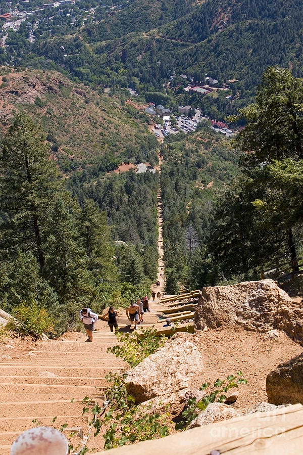 Manitou Springs Pikes Peak Incline Photograph