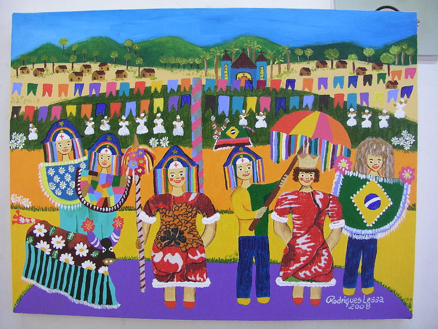 Maracatu Painting by Rodrigues Lessa