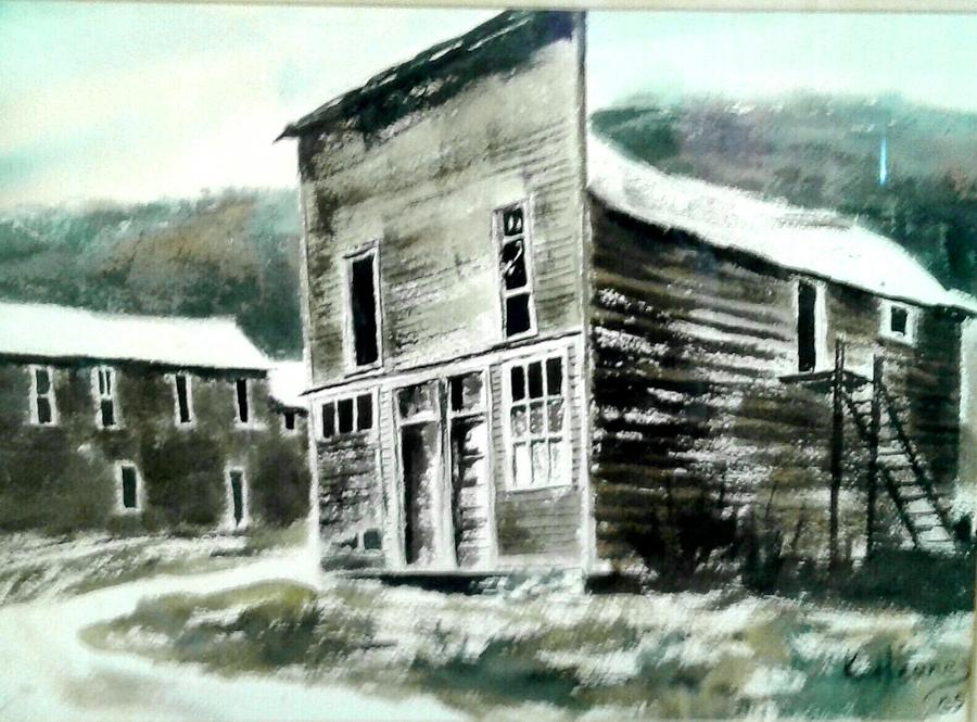 Ghost Town Painting - Marysville Ghost Town Montana by Kevin Heaney