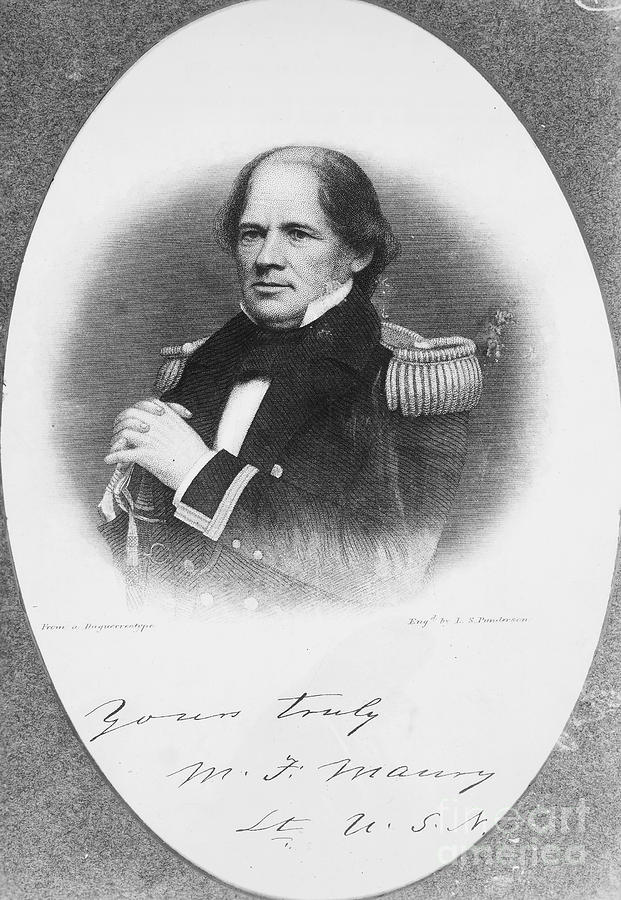 1855 Photograph - Matthew Fontaine Maury by Granger