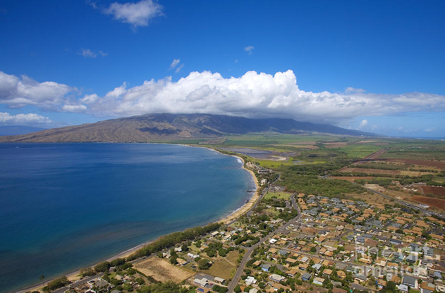 Above Photograph - Maui Aerial by Ron Dahlquist - Printscapes