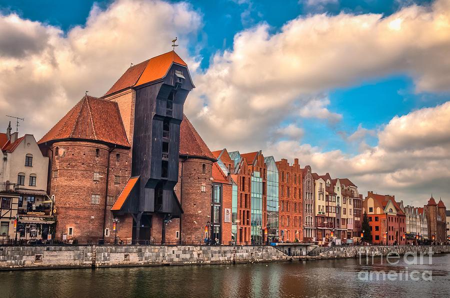 Medieval Crane In Gdansk Photograph