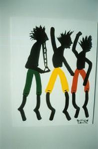 3 Men Dancings Painting by Duncan Roseme