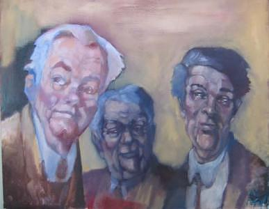 Three Men Painting - 3 Men by Kevin McKrell