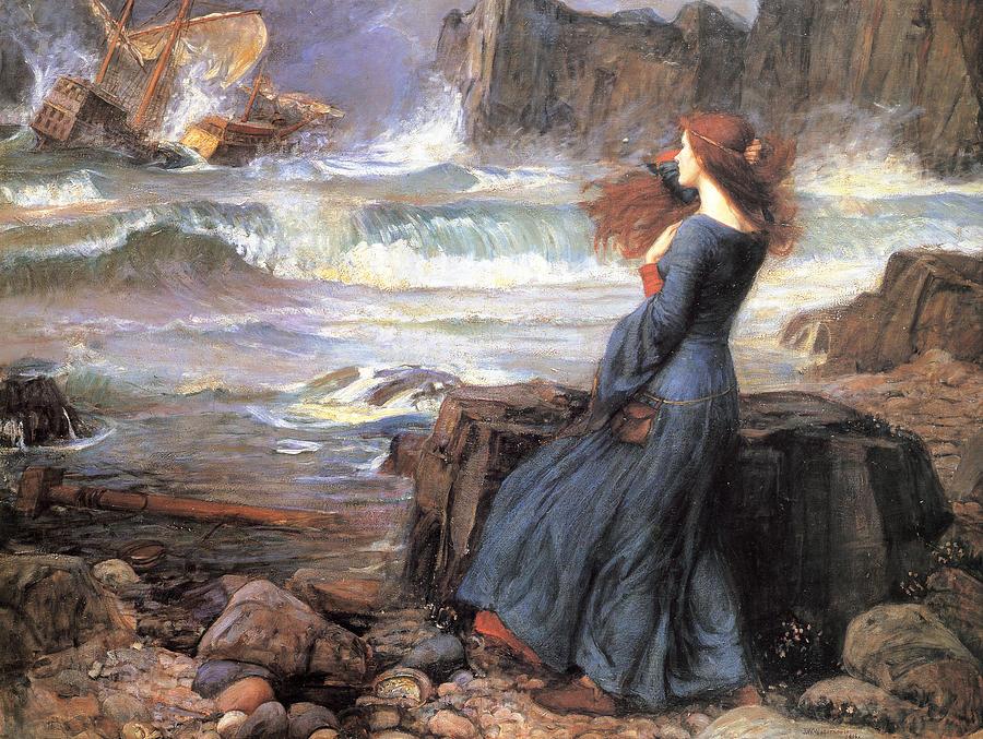 John William Waterhouse Painting - Miranda - The Tempest by John William Waterhouse