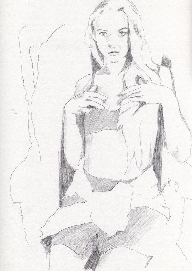 Missy - Sketch Drawing by Stephen Panoushek