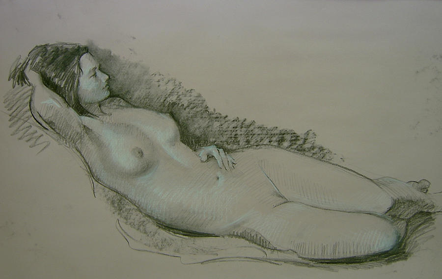 Nude Drawing - Model Study by Tigran Ghulyan