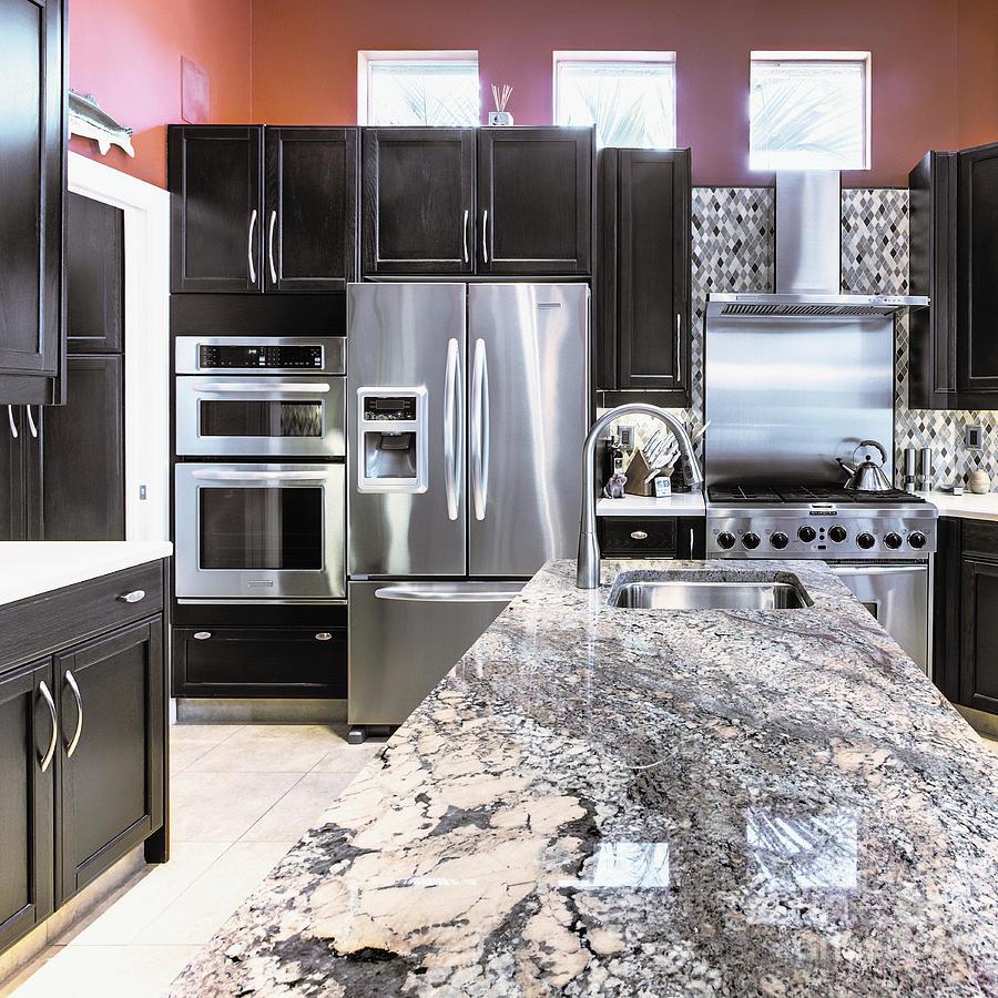 Appliances Photograph - Modern Kitchen Interior by Skip Nall