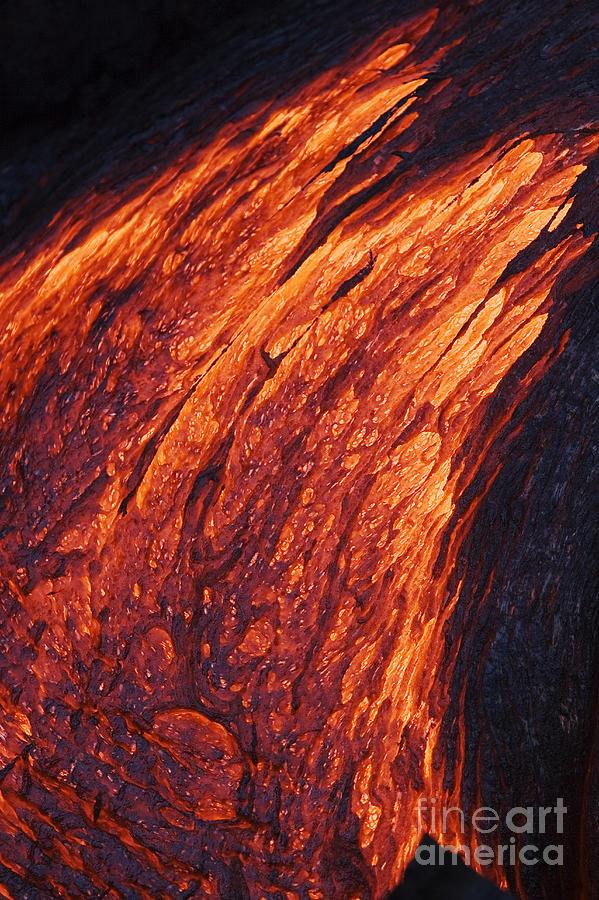 Active Photograph - Molten Pahoehoe Lava by Ron Dahlquist - Printscapes