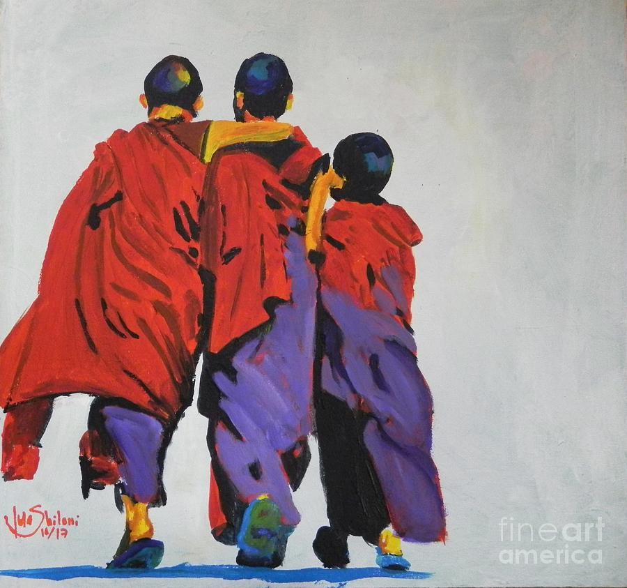3 Monk Boys by Jolanta Shiloni
