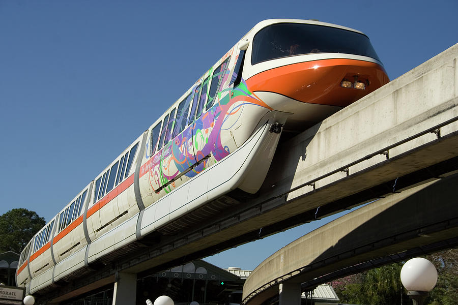 Monorail At Disney World Photograph