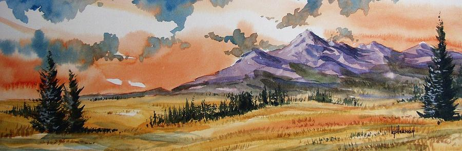 Landscape Painting - Montana Landscape by Kevin Heaney