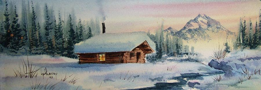 Landscape Painting - Montana Winter by Kevin Heaney