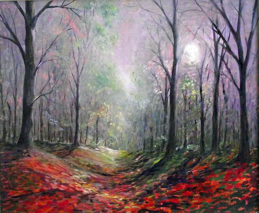 Seasons Painting - Morning Walk by Kym Inabinet