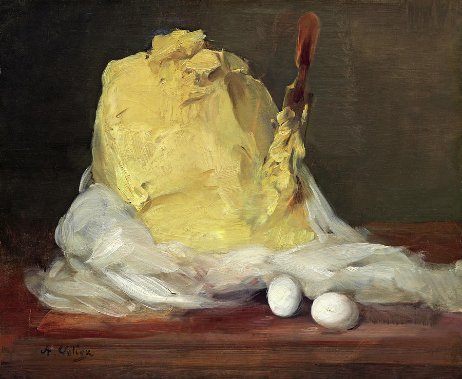 Antoine Vollon Painting -  Mound Of Butter by Antoine Vollon
