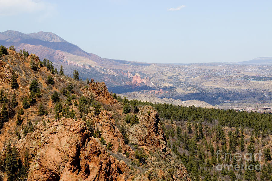 Mount Cutler Trail In Cheyenne Canyon In Colorado Springs Photograph