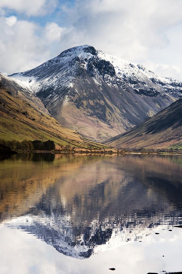 Cumbria Photograph - Mountains And Lake, Lake District by John Short