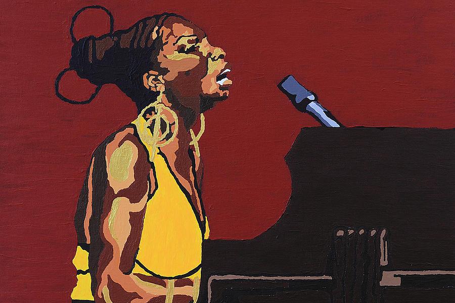 Nina Simone Painting - Nina Simone by Rachel Natalie Rawlins