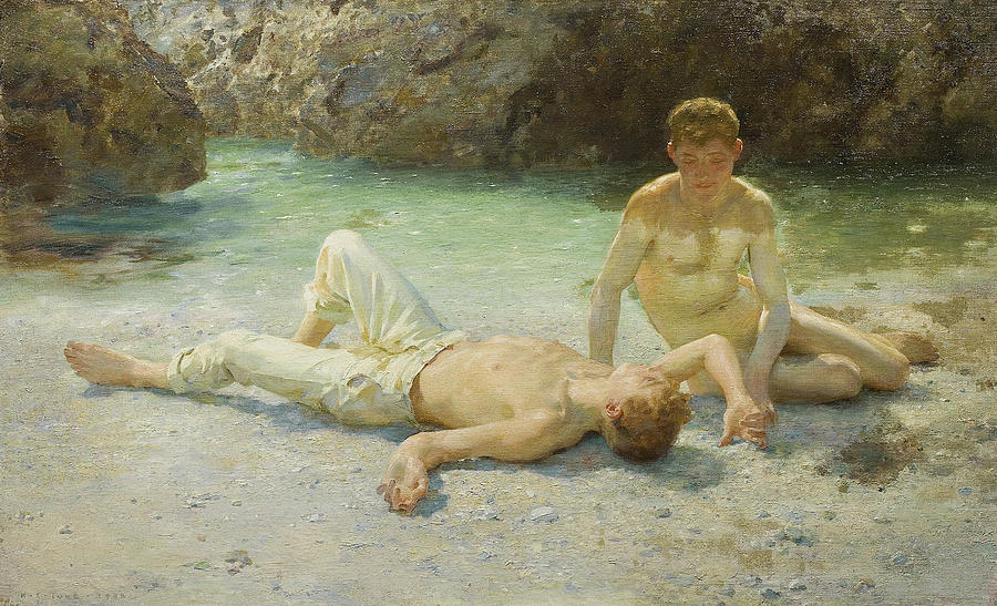 Noonday Heat Painting - Noonday Heat by Henry Scott Tuke