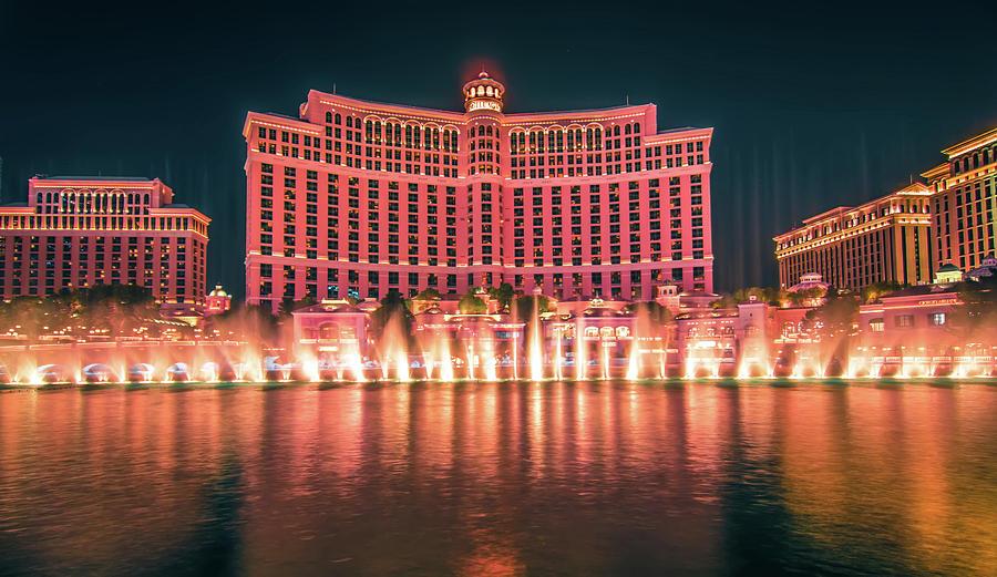 Water Photograph - November 2017 Las Vegas Nevada - Scenes Around Bellagio Resort H by Alex Grichenko