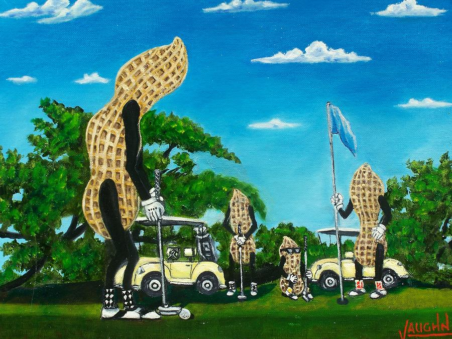 Landscape Painting - Nutz Bout Golf by Charles Vaughn
