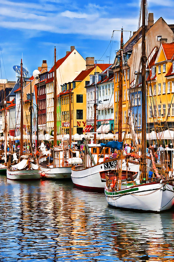 Europe Photograph - Nyhavn by Dennis Cox