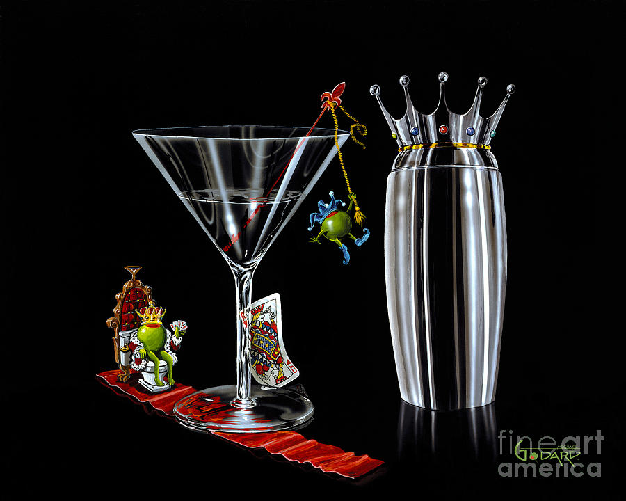 Martini Shaker Painting - On The Throne by Michael Godard