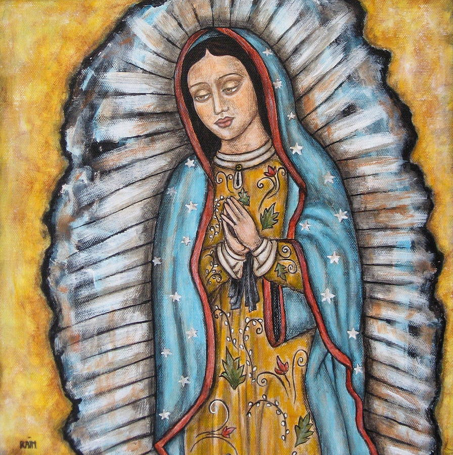 Our Lady Of Guadalupe Painting By Rain Ririn