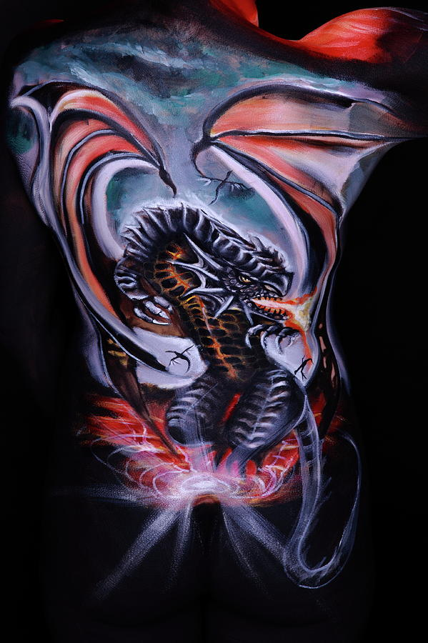 Dragon Photograph - Painful Release by Angela Rene Roberts and Cully Firmin