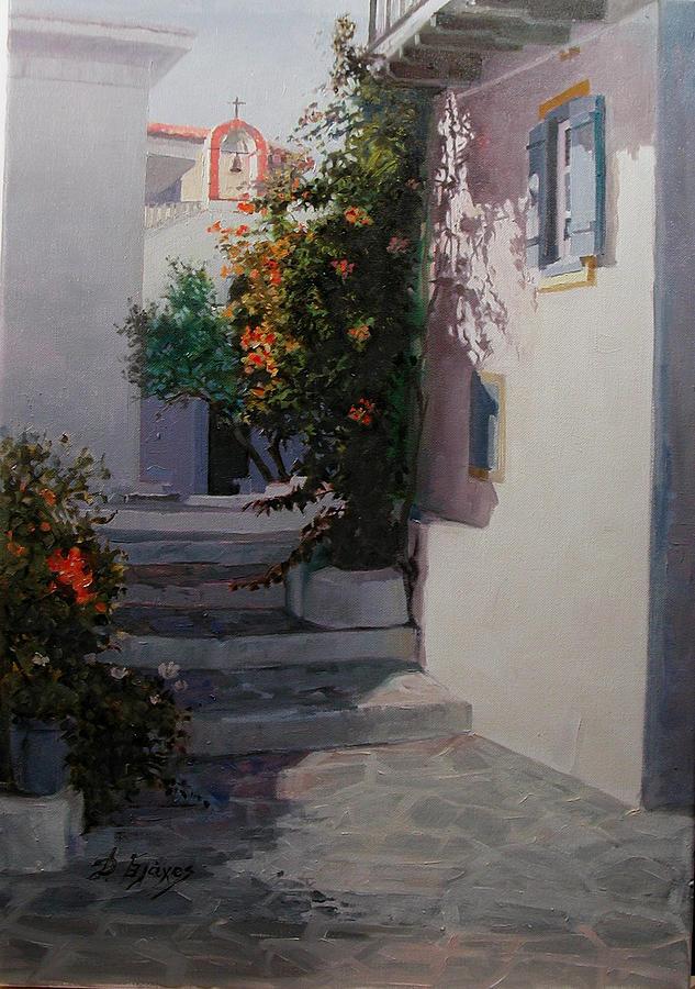 Parros-greece Painting by Demetrios Vlachos
