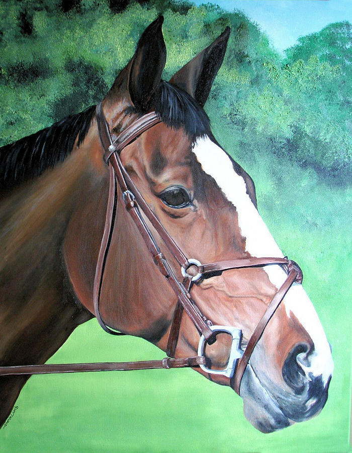 Pet Portrait Painting Commission Dogs Cats Horses  Painting by Sharon  Lamb
